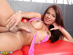 Mia Conty loves playing with her transsexual ass!